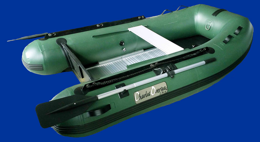 bateau gonflable pneumatique vert avec fond alu. Black Bedroom Furniture Sets. Home Design Ideas